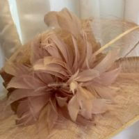 Latte Wedding Hat NR334A